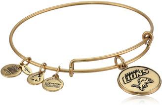 "Alex and Ani Nfl"" Detroit Lions Logo Expandable Wire Rafaelian Gold Bangle Bracelet"
