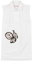 Marni Cotton Top With Embroidered Appliqué