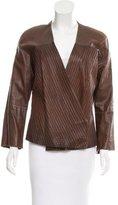 Carolina Herrera Structured Leather Jacket