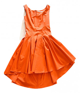Christian Dior Orange Cotton Dresses