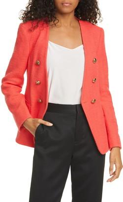 Helene Berman V-Neck Tweed Jacket