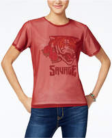 Freeze 24-7 7 7 Juniors' Mesh-Overlay Tiger Graphic T-Shirt