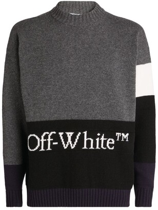 Off-White Knitted Colour-Block Sweater
