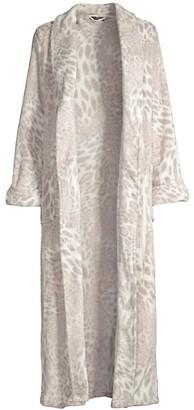 Natori Chestnut Leopard Print Plush Robe