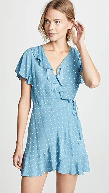 ONE by AUGUSTE Polly Frill Neck Mini Dress