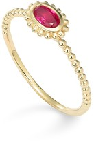 Lagos 18K Gold Oval Ruby Stackable Ring