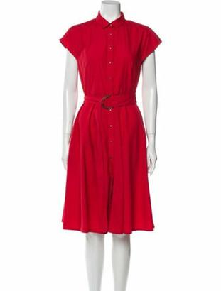 Akris Punto Midi Length Dress Red