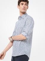 Michael Kors Slim-Fit Botanical-Print Cotton Shirt
