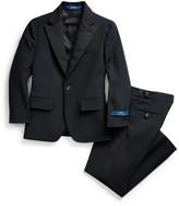 Ralph Lauren Childrenswear Boy's Barathea Wool Two-Piece Tuxedo Suit, Size 5-7
