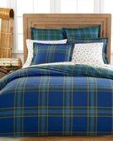 Martha Stewart Collection Ivy League Standard Flannel Pillow Sham Blue/Green Plaid
