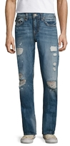 True Religion Ricky Flap Pockets Distressed Straight Jeans