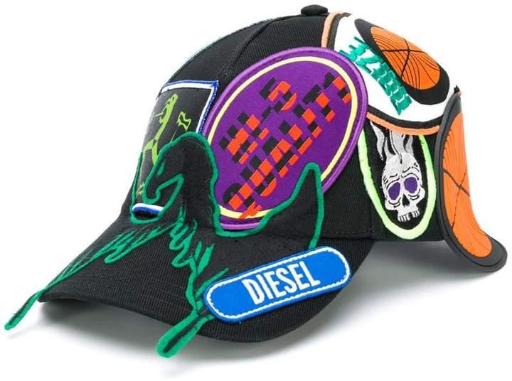 409832ee82 Diesel(ディーゼル) ブラック レディース 帽子 - ShopStyle(ショップスタイル)