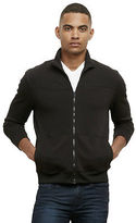 Kenneth Cole Ribbed Mock-Neck Zip Sweater