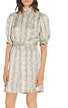 Sandro Shirel Short Printed Dress