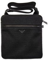 New Mens Armani Jeans Black All Over Logo Nylon Wash Bag Washbag