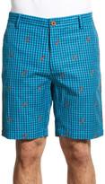Robert Graham Lizards Gingham Linen & Cotton Shorts