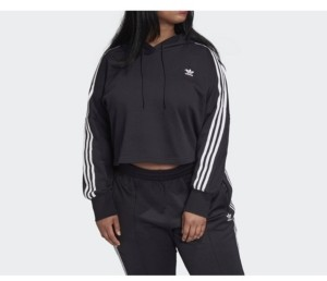 adidas Women's Cropped Hoodie, Plus Size