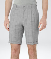 Reiss Reiss Buckingham S - Check Shorts In Grey