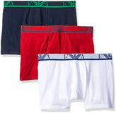 Emporio Armani 3-Pack Colored Basic Genuine Cotton Boxers
