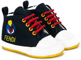 Fendi embroidered logo sneakers