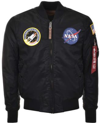 Alpha Industries MA 1 VF NASA Flight Jacket Black