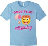 OMG It's My Birthday Emoji T-shirt - Cute Girls Tshirt