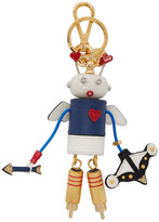 Prada Blue and White Robot Cupid Keychain