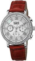Burgi Women's BUR087RD Analog Display Swiss Quartz Red Watch