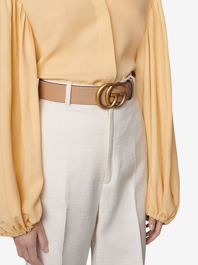 Thumbnail for your product : Gucci GG Marmont leather belt