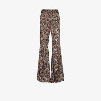 KHAITE X Browns 50 stockard flared trousers