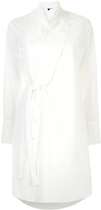 Ann Demeulemeester Poplin Wrap Dress