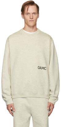 Oamc Grey Noise Sweatshirt