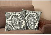 Home Dynamix Chenille 20 in. Gray Decorative Pillow