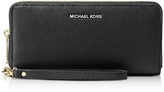 Michael Kors Mercer Large Black Pebble Leather Continental Wallet