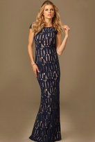 Jovani Sexy Cap Sleeved Long Gown with Embellishments 93055