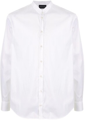 Emporio Armani Mandarin-Collar Shirt