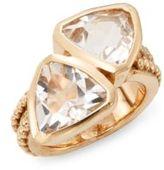 Stephen Dweck Quartz & Bronze Trillion Ring