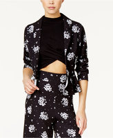 SHIFT Juniors' Printed High-Low Peplum Jacket, Only at Macy's