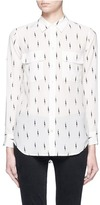 Equipment x Kate Moss 'Slim Signature' lightning print silk shirt