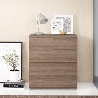 Norwell 5 Drawer Bachelor's Chest Zipcode Design Color: Silver Walnut