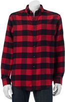 Croft & Barrow Big & Tall Slim-Fit Plaid Flannel Button-Down Shirt