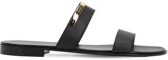 Giuseppe Zanotti Plaque Leather Sandals