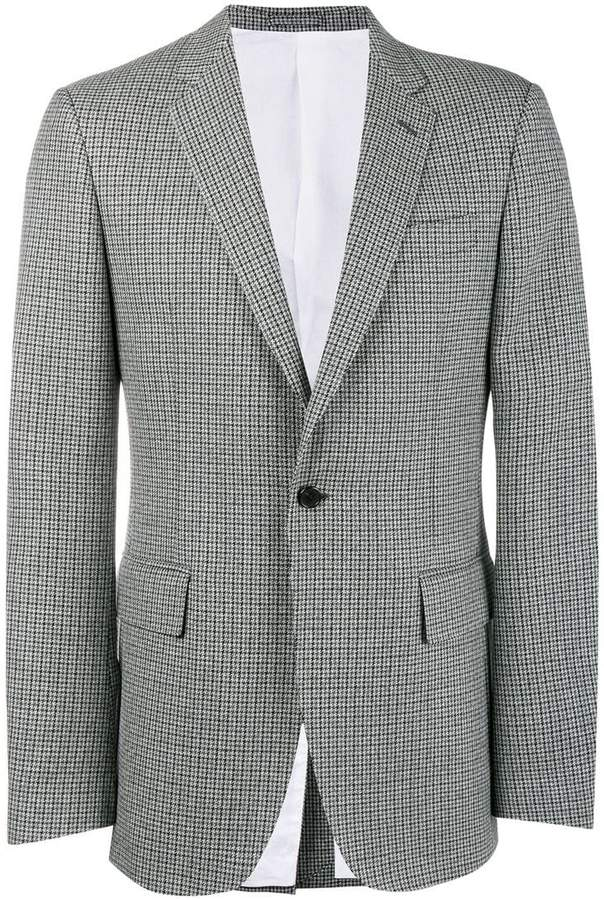 Calvin Klein Fancy Wool Check Blazer