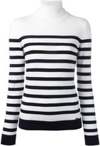 DSQUARED2 stripe roll-neck top