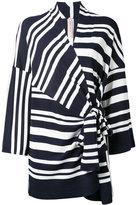 Antonio Marras wrap knitted top - women - Cotton/Viscose - M