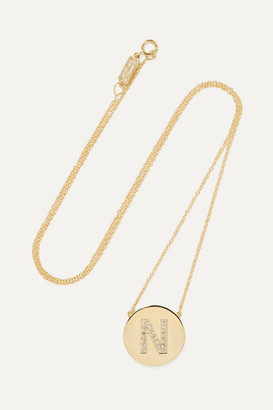 Jennifer Meyer Letter 18-karat Gold Diamond Necklace