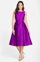 Adrianna Papell Petite Women's Sleeveless Mikado Fit & Flare Midi Dress