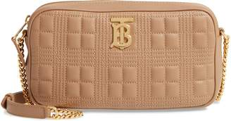 Burberry TB Quilted Check Leather Camera Crossbody Bag