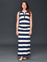 Gap Slub stripe maxi dress