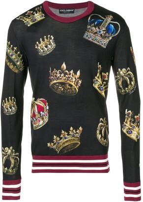 Dolce & Gabbana crown print sweater